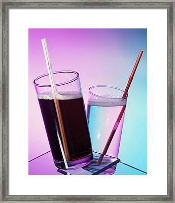 Fizzy Drinks Framed Print by Sheila Terry