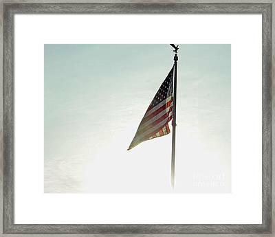 Flag Framed Print by Billie-Jo Miller