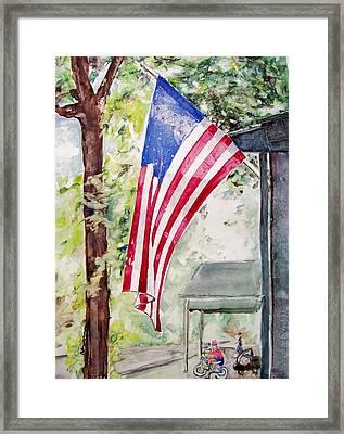 Flag Day Framed Print by Regina Ammerman