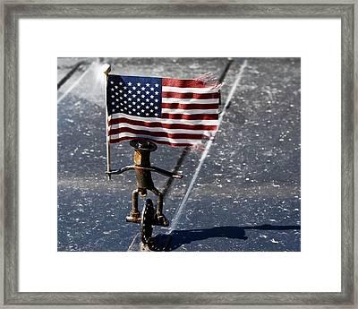 Flag Waver Framed Print by Lorraine Devon Wilke