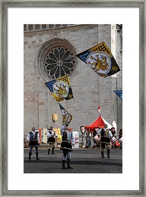Flag Wavers Framed Print by Raffaella Lunelli