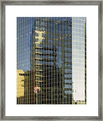 Flagged Framed Print