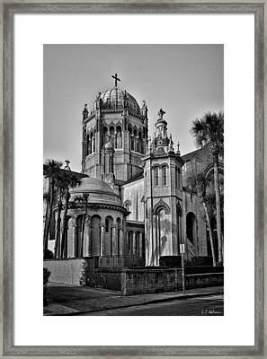Flagler Memorial Presbyterian Church 3 - Bw Framed Print by Christopher Holmes