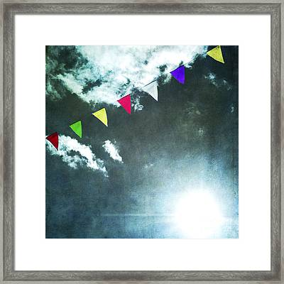 Flags Framed Print by Bernard Jaubert
