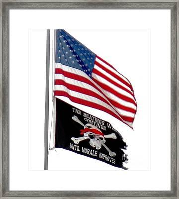 Flags Framed Print by Judyann Matthews