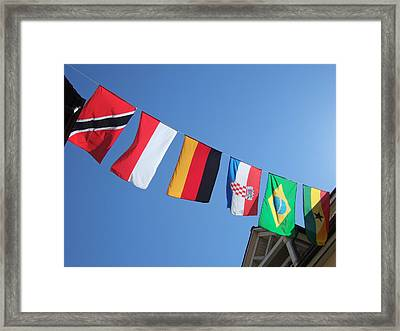 Flags Of Different Countries Framed Print by Matthias Hauser