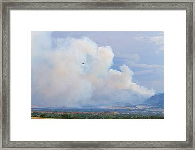 Flagstaff Fire Day One 6pm Framed Print by James BO  Insogna