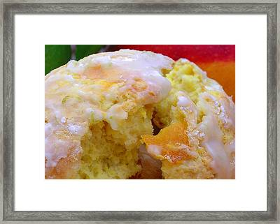 Flaky Mango Scones With Lime Glaze Framed Print by James Temple