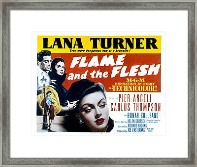 Flame And The Flesh, Carlos Thompson Framed Print