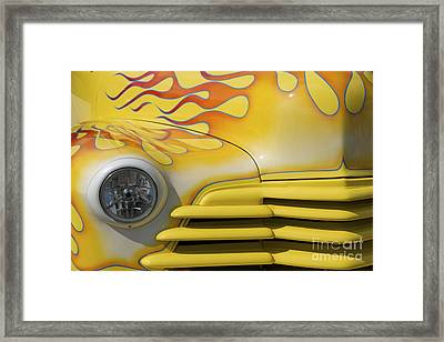 Flame Mobile Framed Print