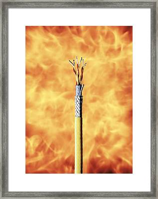 Flame-resistant Cable Framed Print