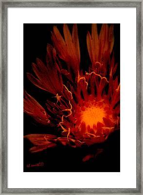 Flame Thrower Framed Print