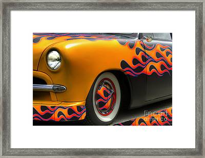 Flamed Merc Framed Print by David  Hubbs