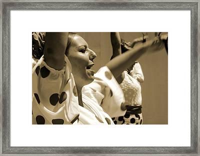 Flamenco Dance Framed Print by Perry Van Munster
