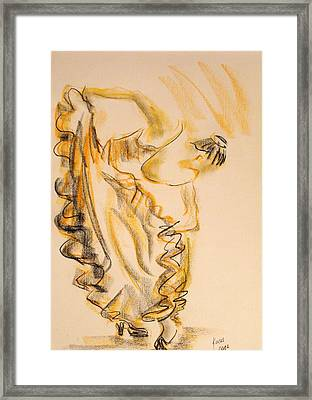 Flamenco Dancer 2 Framed Print