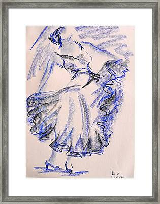 Flamenco Dancer 8 Framed Print