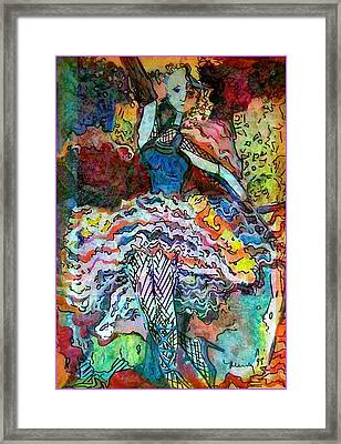 Flamenco Dancer Framed Print by Mindy Newman