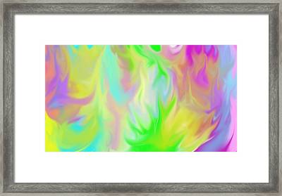 Flames / Chamas Framed Print by Rosana Ortiz