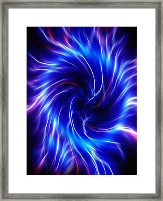 Flames, Computer Artwork Framed Print by Pasieka