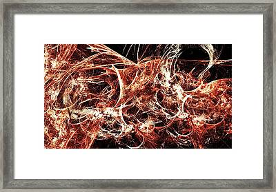 Flames Of Destruction Framed Print by Sharon Lisa Clarke