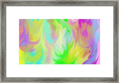 Flames Framed Print by Rosana Ortiz