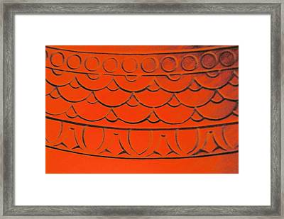 Flaming Arches Framed Print by