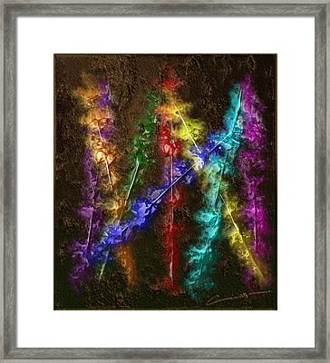 Flaming Arrows Framed Print by Michael Hurwitz