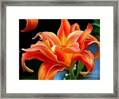 Flaming Flower Framed Print