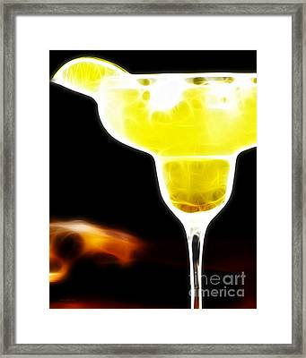 Flaming Hot Margaritaville Framed Print by Wingsdomain Art and Photography