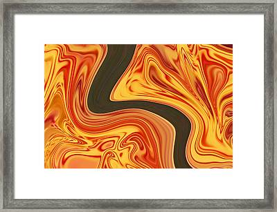Flaming River Framed Print by Aimee L Maher Photography and Art Visit ALMGallerydotcom