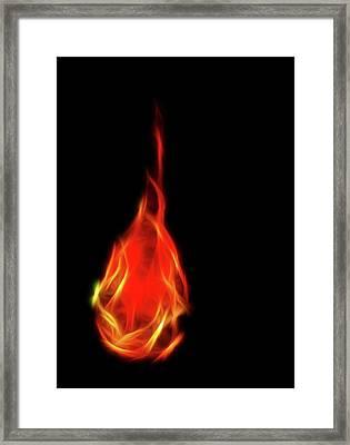 Flaming Tear Framed Print