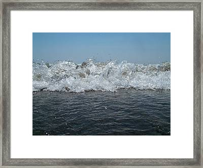 Flaming Waves Framed Print by Fredrik Ryden