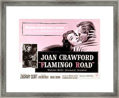 Flamingo Road, Joan Crawford, David Framed Print