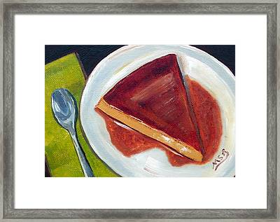 Flan Oil Painting Framed Print by Maria Soto Robbins