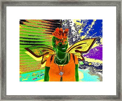 Flapper Fairy Framed Print by Rdr Creative