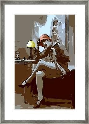 Flapper Girl 2 Framed Print by Steve K
