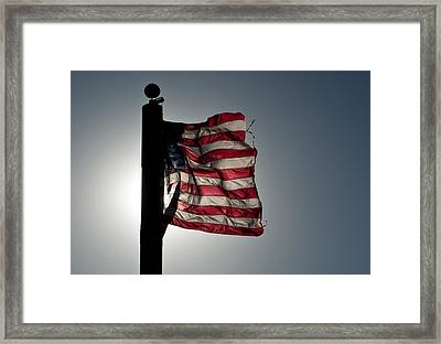 Flappin Old Glory Framed Print by Keith Sanders