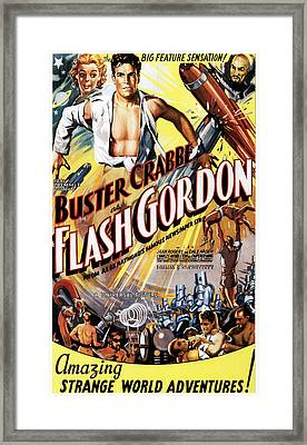 Flash Gordon, Jean Rogers, Larry Buster Framed Print