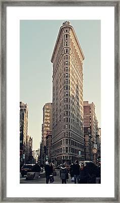 Flat Iron Building Framed Print by Benjamin Matthijs