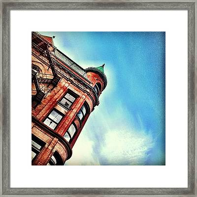 Flat Iron Building Framed Print by Christopher Campbell
