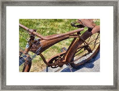 Flat  Framed Print by Michelle Calkins