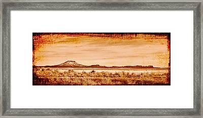 Flat Rock Eastern Oregon Framed Print by Daniel Morgan