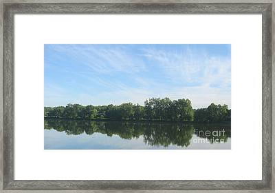 Framed Print featuring the photograph Flat Water by Nancy Dole McGuigan