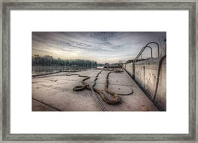 Flatboat Takeoff Framed Print by Everet Regal