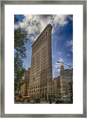 Framed Print featuring the photograph Flatiron Building - Color by Vicki DeVico