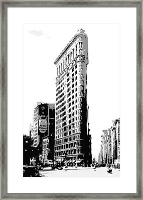 Flatiron Building Bw3 Framed Print by Scott Kelley
