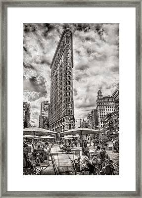 Framed Print featuring the photograph Flatiron Building Hdr by Steve Zimic