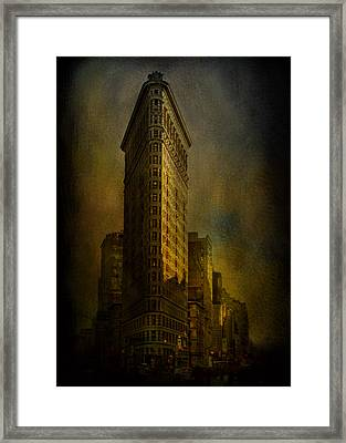 Flatiron Building...my View..revised Framed Print by Jeff Burgess