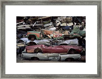 Flattened Car Bodies Framed Print by Dirk Wiersma