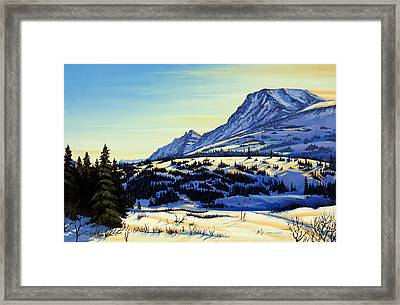 Flattop Winter Framed Print by Kurt Jacobson